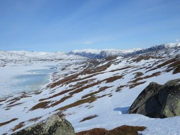 Is og snøforhold i fjellet i Nordland og Troms per 25. april 2018