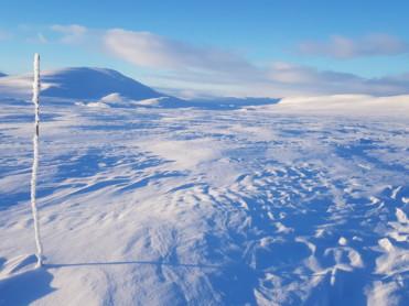 Is og snøforhold i fjellet i Nordland og Troms per 1. mars 2019