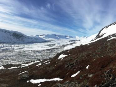 Is - og snøforhold i fjellet i Nordland og Troms 27. april 2017